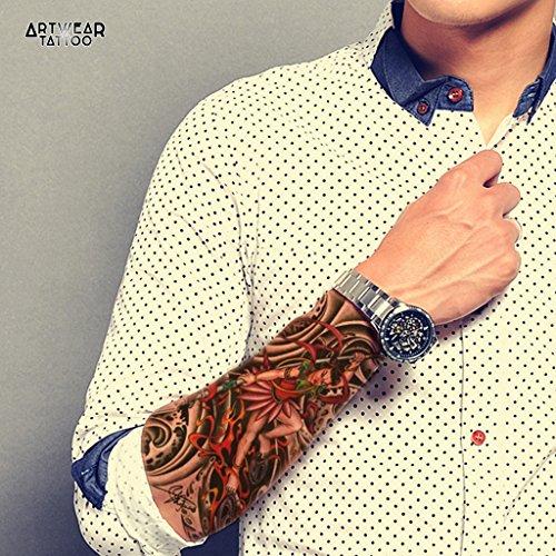 tatuaggio-temporaneo-realistico-di-artista-lady-warrior-artwear-tattoo-asian-woman-b0080-m