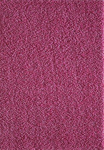 Taleta Einfarbig Langflor Shaggy Bereich Wohnzimmer Teppich Polypropylen Rosa 200x290 cm -