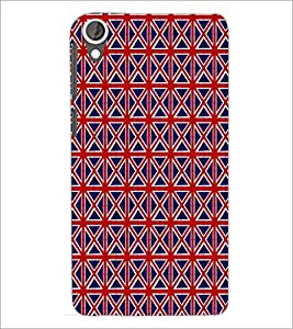PrintDhaba Pattern D-6082 Back Case Cover for HTC DESIRE 820 (Multi-Coloured)