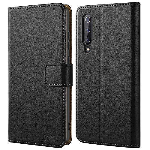HOOMIL Case Compatible with Xiaomi Mi 9 SE, Premium PU Leather Flip Wallet Phone Case for Xiaomi Mi 9 SE Cover (Black)