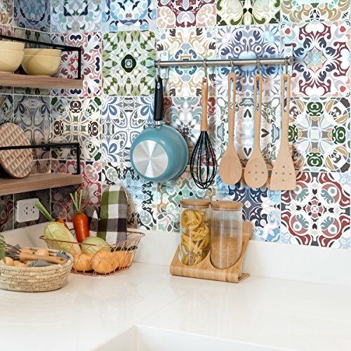 Ambiance-live quadretti di cemento adesivo parete–azulejos–10x 10cm–24pezzi
