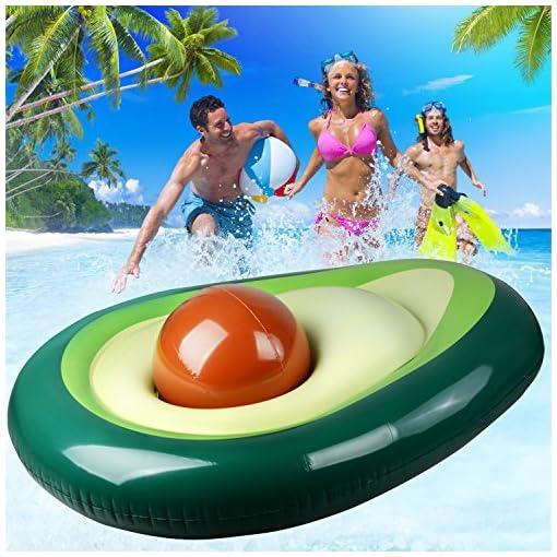 Lettini Gonfiabili Da Mare.Avocado Gigante Gonfiabile Galleggiante Row Pool Float Swim