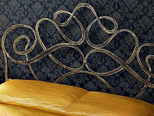 Letto matrimoniale in ferro battuto con vano contenitore (Arabesco)