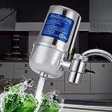 Waterfiltratiesysteem, waterkraan waterfilter met water filterpatronen keuken - Past standaardventielen kraan Filters,Silver