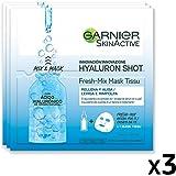 Garnier Maschera in Tessuto Skin Active Fresh Mix, Formula Arricchita con Acido Laluronico, Pelle Levigata e Rimpolpata, Conf