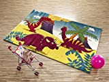 RUMTOBER DINO Kinderteppich bunt Öko-Tex in multicolor, Größe: 120x170 cm