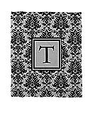 Telecharger Livres Manuel Woodworkers et Weavers Corail Couvre lit polaire 50 par 152 4 cm ornee d un Monogramme Lettre T Noir et gris Damas (PDF,EPUB,MOBI) gratuits en Francaise