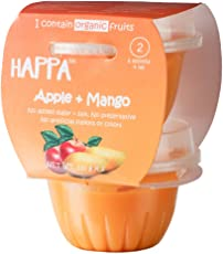 Happa Organic Apple + Mango Puree, Baby Food For 6 Months+, Stage-2, 110 G Tub (2 Count)