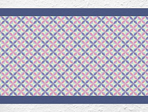 I-love-Wandtattoo b-10144 Bordüre Formen in Violett und Flieder Wohnraum Küche Kinderzimmer Deko Wanddeko Wandsticker Wandaufkleber Wandtattoo