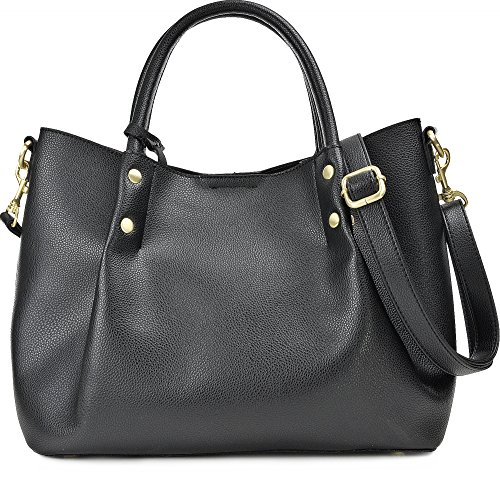 HOUSE OF ENVY Nvfs17c003-double-black, Borsa tote donna nero nero Rame