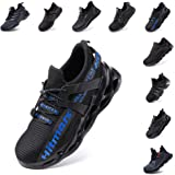 Safety Shoes Men Women Steel Toe Cap Trainers Work Sport Ladies Safe Sneakers Lightweight Breathable Indestructible Black Red