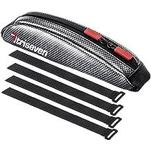 TRISEVEN Carbon Aero Bag 10 * Bolsa de ciclismo * Bolsa de triatlón de larga distancia * Bolsa de MTB * Capacidad 0,4L * Bolsa de tubo superior * Accesorios de bicicleta * Monedero de 6 geles * 4 correas o 2 pernos * 100% de garantía de devolución de dinero (plata)