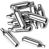 IBILI 744100 Cartouches de co2 pour Siphon Soda, Aluminium, Argent, 9 x 4 x 7 cm