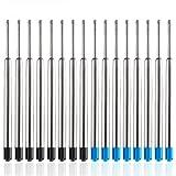 YOTINO Set di Ricariche Per Penne Parker 30 Pezzi Parker Penna a Sfera Refill Nero e Blu Parker Jotter Ricambio Parker Ballpe