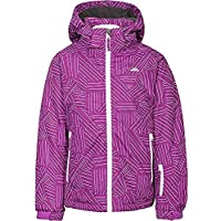 f60e854828 Trespass Girls Touchline Touch Fastening Weatherproof Hooded Ski Jacket