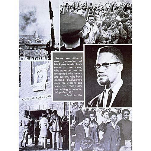 Wee Blue Coo LTD Political Civil Rights African American Malcolm X Islam Art Print Poster Wall Decor Kunstdruck Poster Wand-Dekor-12X16 Zoll -