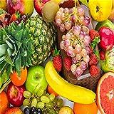 LONGYUCHEN 3D Fototapete Tapete Benutzerdefinierte Küche Obst Shop Restaurant Hintergrund Wand Dekor Obst Gemüse Seide Wandbild Tapeten,260Cm(H)×420Cm(W)