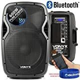 Vonyx AP1200ABT 12 Inch PA Active Powered Bluetooth Speaker 600W