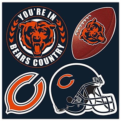 NFL Chicago Bears Unisex Chicago Bears 4Piece Magnet-Set, Marineblau, One Size