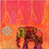Startonight Nachtleuchten Leinwandbild Feng Shui Elephant 80 cm x 80 cm