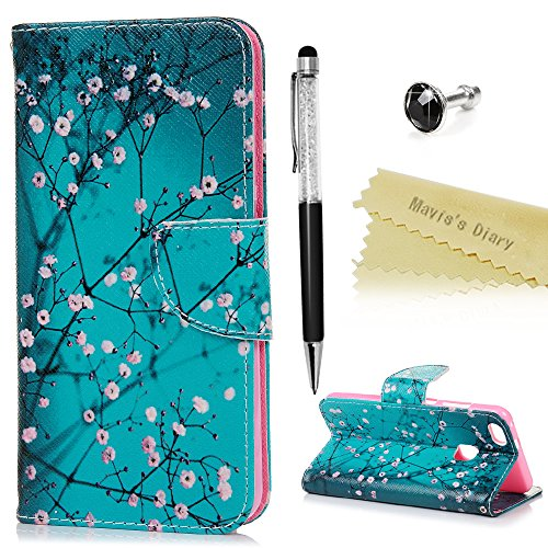 maviss-diary-huawei-p10-lite-hulle-gemalt-fresh-rosa-blumen-rosa-himmel-muster-tasche-schutzhulle-le