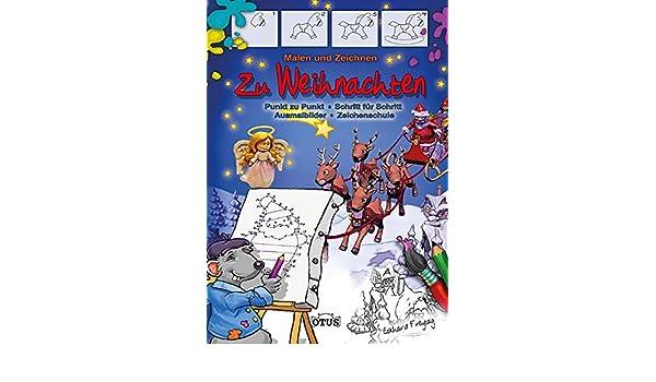 Malen Und Zeichnen Weihnachten Punkt Zu Punkt Schritt Für