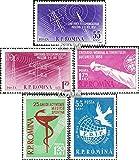 Rumänien 1699-1700,1706,1707,1708 (kompl.Ausg.) 1958 OSS Konferenz, Fechten, Sport, Frau (Briefmarken für Sammler)