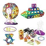 Magnetica Costruzione Blocchi, YKS, 52 Pezzi Educativi Kit DIY, Costruzioni Magnetiche, Giocattoli 3D puzzle Regalo per Bambini dai 3 Anni e Adulti