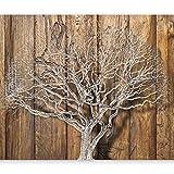 murando - Fototapete 200x140 cm - Vlies Tapete - Moderne Wanddeko - Design Tapete - Wandtapete - Wand Dekoration - Baum Natur Brett Holz Landschaft b-C-0044-a-b