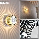 Wandleuchte Cantoni in Nickel-matt – 1 x G9 max. 28 Watt - strahlenförmiger Lampenschirm - Wandlampe aus Metall als stilisierte Blüte - Leselampe mit tollen Lichteffekten – nur für innen