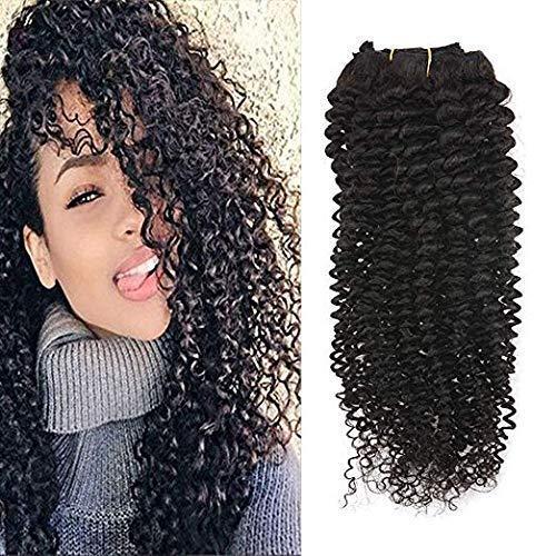 Full shine 22 pollice riccio crespo clip in capelli estensioni dei capelli naturali africano clip americano a estensioni dei capelli umani 7pcs 100% real curly human hair extension 100g