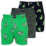 Happy Shorts 3 Webboxer Herren Boxer Motiv Boxershorts Farbwahl, Grösse:XL - 7-54, Präzise Farbe:Design 2