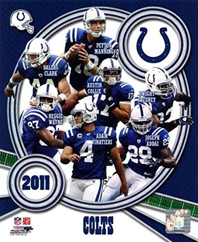 Composite-indianapolis Colts (Indianapolis Colts 2011 Team Composite Photo Print (40,64 x 50,80 cm))