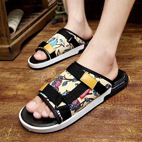 K08 Verano Y De Verano Dentro Fuera Búho Zapatillas Para Moda Arrastre Palabra Hombre Hombre Toboganes Zapatos Orw0AO