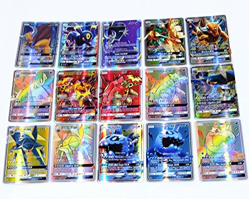 Carte Pokemon Sun and Moon (Soleil et Lune) – Carte rare 60 pcs GX Card, meilleur cadeau
