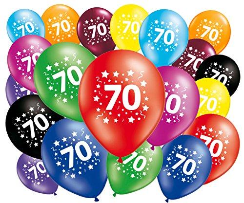 FABSUD–Lote de 20Globos cumpleaños 70años