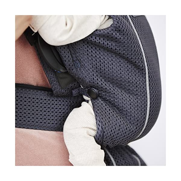 BABYBJÖRN Baby Carrier Mini, 3D Mesh, Anthracite Baby Bjorn Perfect first baby carrier for a newborn Small and easy to use 3D Mesh - Cool and airy mesh fabric, with an incredibly soft inner layer next to your newborn's skin 3