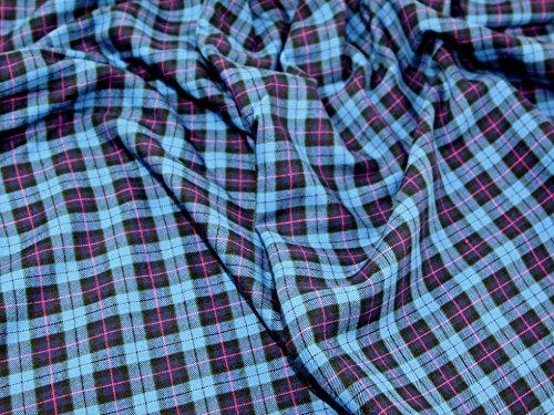 Tartan gebürstete Baumwolle Kleid Stoff Cranleigh–Meterware