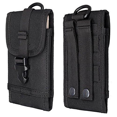 Marsupio tattico multiuso sport Utility mini Pack esterno della vita tasca, Black Black
