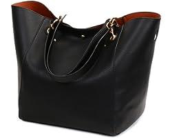 Valleycomfy Damen Tasche Einkaufstasche Pu Leder Handtasche Schultertasche