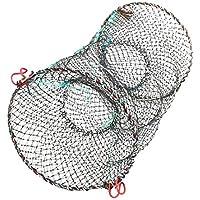 Dunkelgr/ün 55 cm x 20 cm, Kordel zum Zuziehen, Crab Fisch-Fischernetz de