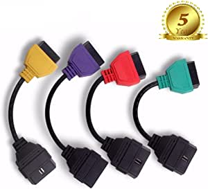 Gg 1 Ecuscan Obd Obdii Adapter Für Motorsteuergerät Airbag Abs Servolenkung Und Can A1 A2 A3 A4 Farbset Auto