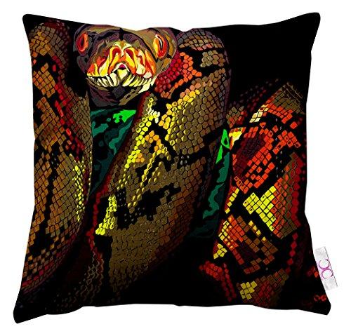 Unbekannt Chloe Croft London Kissen Snake Hochformat, schwarz/grau/grün/rot/orange/weiß/blau -