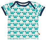 loud + proud Unisex Baby T-Shirt, Druck, Grün (smaragd Sm), 68 (Herstellergröße: 62/68)