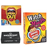 Card Boy Superfight + Speak Out Game US + Watch Ya Mouth