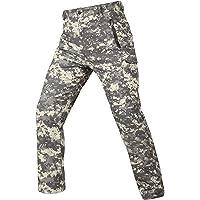 OLOEY Pantaloni Softshell mimetici Tattici per Uomo Pantaloni Cargo Foderati in Pile Pantaloni da Sci Impermeabili…