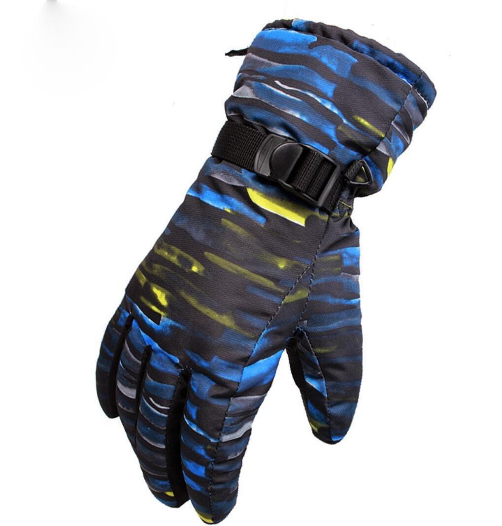 Guanti esterni invernali neutro blu viola - Ottima vestibilità e miglioramento del calore e palme