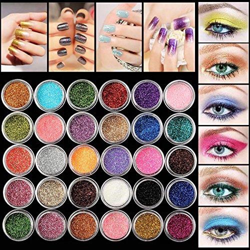 glitter-eyeshadow-luckyfine-30-farben-mix-glitter-puder-lidschatten-eyeshadow-kosmetik-schminke-make