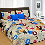 Cortina Gold Satin Double Bedsheet with ...