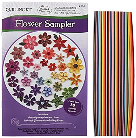 Quilled Creations Paper Quilling Kit Flower Sampler